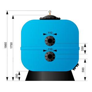 Фильтр AquaViva M1600 (100 м3/ч, D1600)